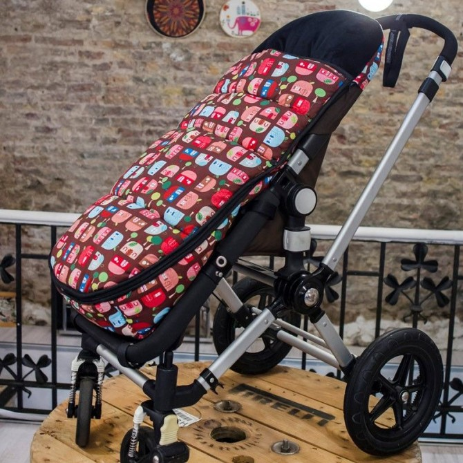 Winter Bugaboo Cameleon footmuff personalized
