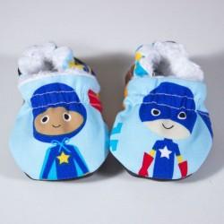 Patucos bebé superheroes