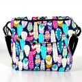 Messenger diaper bag Feathers