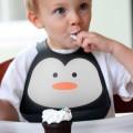 Babero de silicona Pingüino niño