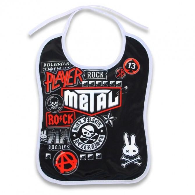 Babero bebé metal fan