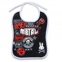 Babero bebé rockero metal fan