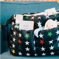 Bolso carrito con solapa Estrellas en negro MYbags