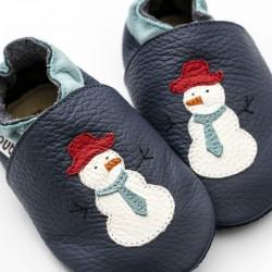 Patucos bebé muñeco de nieve