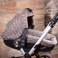 Canopy + bassinet cover Matrix - choose the fabric