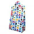 Diaper stacker bag - vertical - blue super hero
