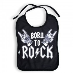 Babero para bebé - rock to born