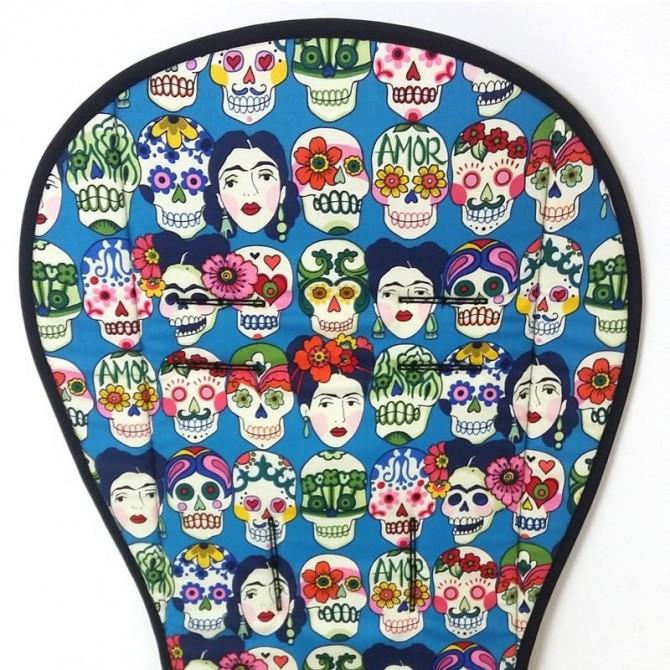 Colchoneta silla paseo universal - Frida turquesa