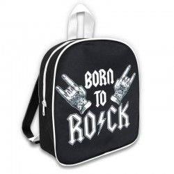 Mochila guarderia - bork to rock