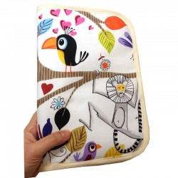 Baby documents pouch - animals