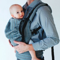Ergonomic Baby carrier - graphite herringbone
