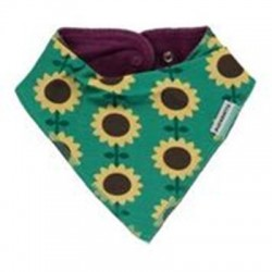 Dribble bib Sunflowers by Maxomorra