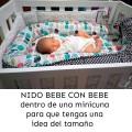 Baby nest - mint unicorns