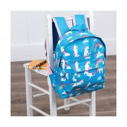 Mochila para bebé Unicornio en silla