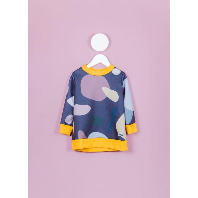 Violet dots sweater Fille