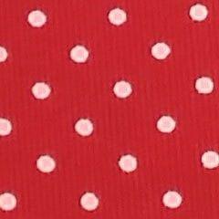 Tela 298 Pique rojo topos