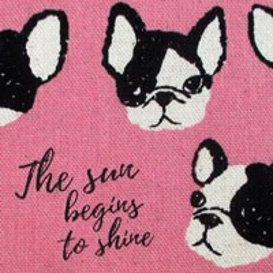 Tela 702 pink dogs