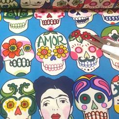 Tela 575 Frida turquesa