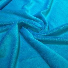Tela de pelo azul turquesa