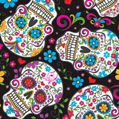 Tela 162 Folk skull black